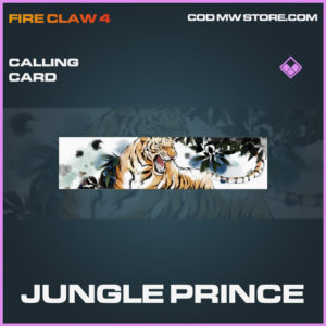 Jungle Prince calling card epic call of duty modern warfare warzone item