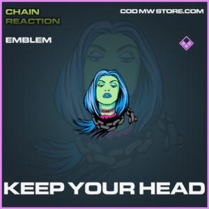 Keep your head emblem epic call of duty modern warfare warzone item