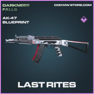 Last Rites AK-47 skin epic blueprint call of duty modern warfare warzone item