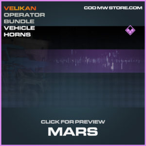 Mars Vehicle horns epic call of duty modern warfare warzone item