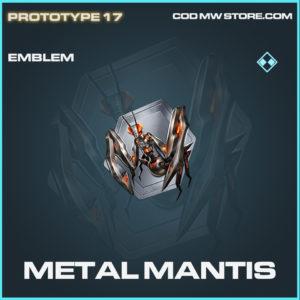 Metal Mantis emblem rare call of duty modern warfare warzone item