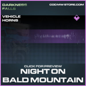 Night on Bald Mountain vehicle horns epic call of duty modern warfare warzone item
