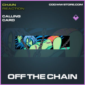 Off The Chain calling card epic call of duty modern warfare warzone item