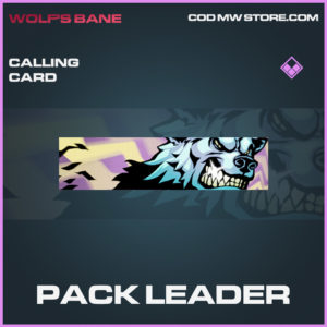 Pack Leader calling card epic call of duty modern warfare warzone item