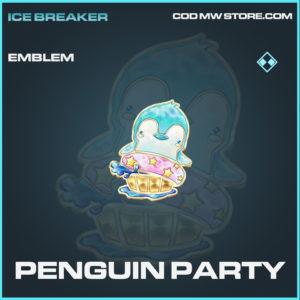 Penguin Party emblem rare call of duty modern warfare warzone item