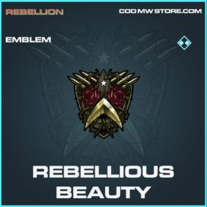 Rebellious Beauty emblem rare call of duty modern warfare warzone item