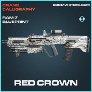 Red Crown ram-7 skin rare blueprint call of duty modern warfare warzone item