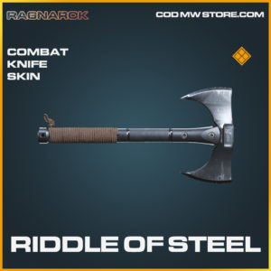 Riddle of Steel combat knife skin legendary call of duty modern warfare warzone item