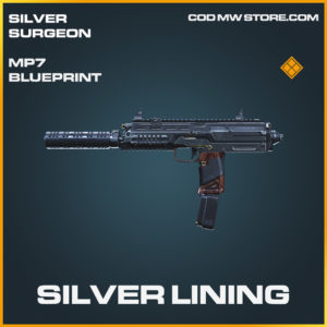 Silver Lining MP7 skin legendary blueprint call of duty modern warfare warzone item