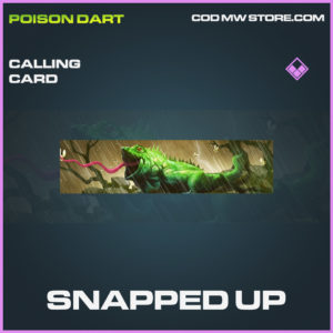 Snapped up calling card epic modern warfare warzone item