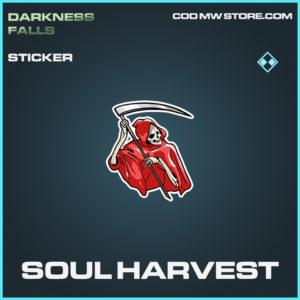 Soul Harvest sticker rare call of duty modern warfare warzone item
