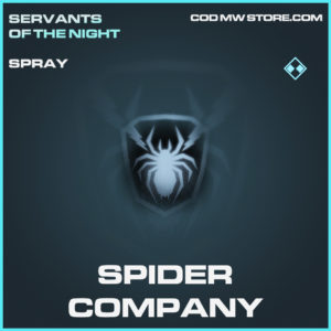 Spider Company rare spray call of duty modern warfare warzone item