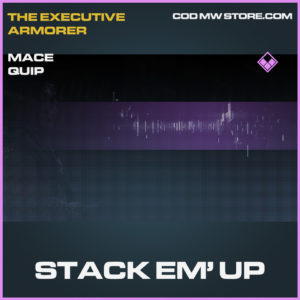 Stack Em' Up Mace quip epic call of duty modern warfare warzone item