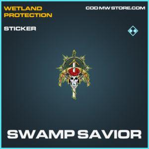 Swamp Savior sticker rare call of duty modern warfare warzone item
