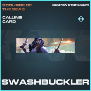 Swashbuckler calling card rare call of duty modern warfare warzone item