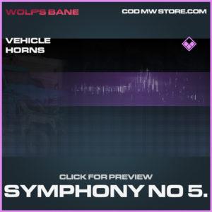 Symphony No. 5 Vehicle horns epic call of duty modern warfare warzone item
