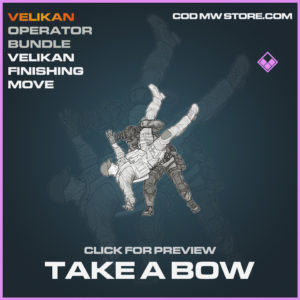 Take A Bow Velikan Finishing Move epic call of duty modern warfare warzone item