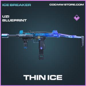 Thin Ice Uzi skin epic blueprint call of duty modern warfare warzone item