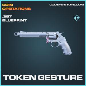 Token Gesture .357 skin rare blueprint call of duty modern warfare warzone item