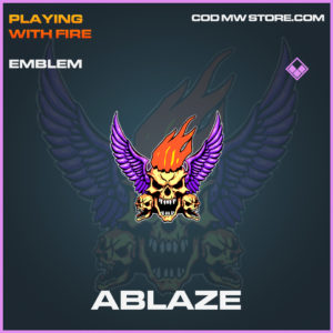 Ablaze emblem epic call of duty modern warfare warzone item