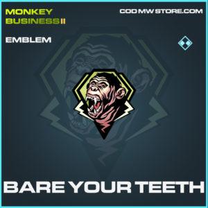 Bare Your Teeth emblem rare call of duty modern warfare warzone item
