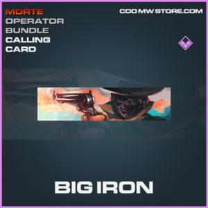 Big Iron Calling card epic call of duty modern warfare warzone item
