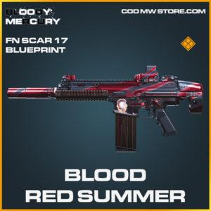 Blood Red Summer FN SCar 17 skin legendary blueprint call of duty modern warfare warzone item