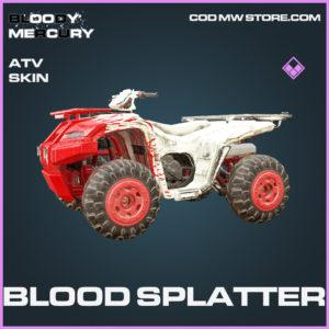 Blood Splatter ATV Skin epic call of duty modern warfare warzone item