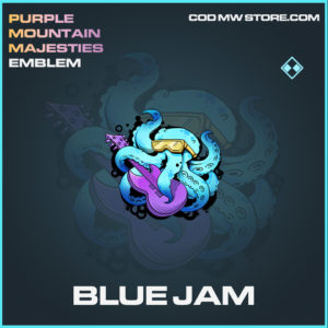 Blue Jam emblem rare call of duty modern warfare warzone item