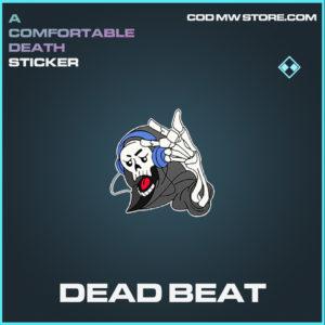 Dead Beat sticker rare call of duty modern warfare warzone item