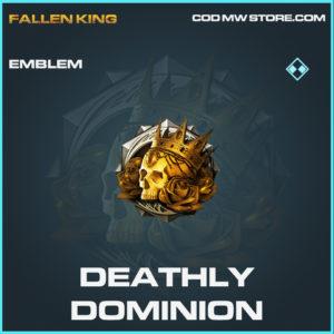 Deathly Dominion emblem rare call of duty modern warfare warzone item