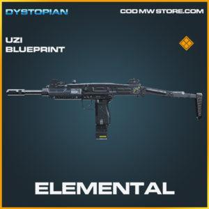 Elemental Uzi skin legendary blueprint call of duty modern warfare warzone item