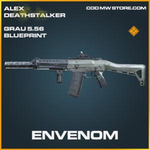 Envenom Grau 5.56 blueprint legendary skin call of duty modern warfare warzone item