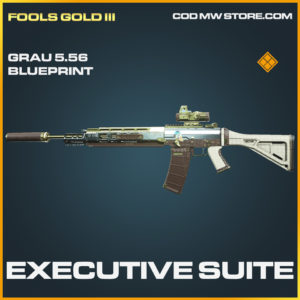 Executive Suite Grau 5.56 skin legendary blueprint call of duty modern warfare warzone item
