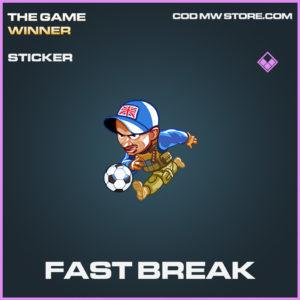Fast break epic sticker call of duty modern warfare warzone item
