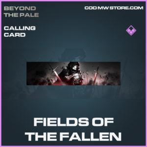 Fields of the fallen calling card epic call of duty modern warfare warzone item