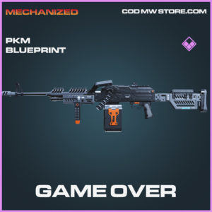 Game Over PKM skin epic blueprint call of duty modern warfare warzone item