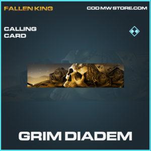 Grim Diadem calling card rare call of duty modern warfare warzone item