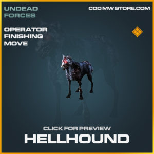 Hellhound Operator Finihsing Move legendary call of duty modern warfare warzone item