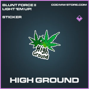 High Ground sticker epic call of duty modern warfare warzone item