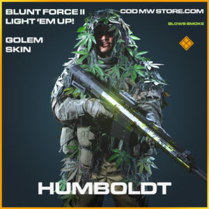 Humboldt GOlem skin legendary call of duty modern warfare warzone item