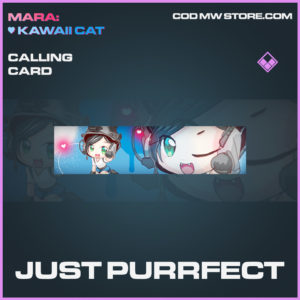 Just Purrfect calling card epic call of duty modern warfare warzone item