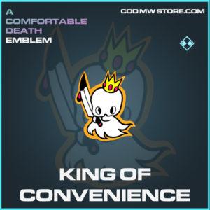 King of Convenience emblem rare call of duty modern warfare warzone item