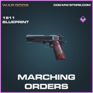 Marching Orders 1911 skin epic blueprint call of duty modern warfare warzone item
