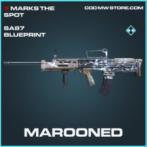 Marooned SA87 skin rare blueprint call of duty modern warfare warzone item