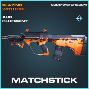 Matchstick AUG skin rare blueprint call of duty modern warfare warzone item