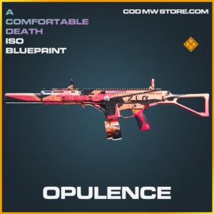 Opulence ISO skin legendary blueprint call of duty modern warfare warzone item