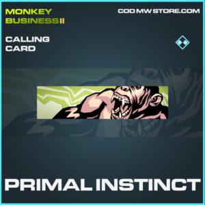 Primal Instinct calling card rare call of duty modern warfare warzone item