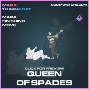 Queen of Spades Mara Finishing Move epic call of duty modern warfare warzone item