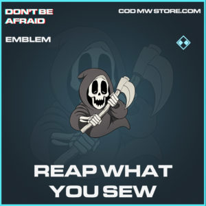 Reap What You Sew emblem rare call of duty modern warfare warzone item